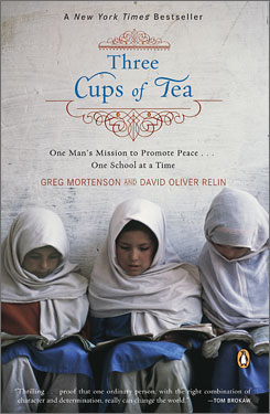"Three Cups of Tea author Greg Mortenson says ""fight terrorism"" became ""promote peace."" Tea recounts Mortensen's efforts to build schools for Pakistani girls."