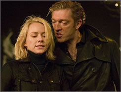 Not child's play: Naomi Watts is a midwife, Vincent Cassel a mobster in Eastern Promises.