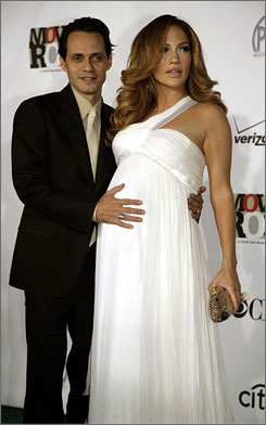 Mum was the word: An ever-expanding Jennifer Lopez, along with husband Marc Anthony, waited and waited to publicly reveal her much-discussed pregnancy.