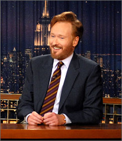 "Conan O'Brien grew out his whiskers ""out of solidarity for my writers and to prove I have some testosterone."""