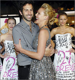 Katherine Heigl and new husband Josh Kelley had to make their 27 Dresses red carpet stroll last  they won't get a chance to do it Sunday due to the Golden Globes' cancellation.