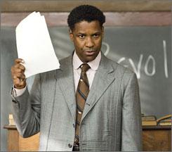 Denzel Washington stars in The Great Debaters.