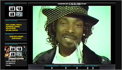 On the Snoopadelic channel: Rapper Snoop Dogg is among the early collaborators on UVNTV.com, a network that hopes to merge elements of YouTube and MySpace.
