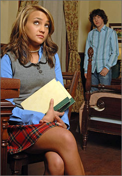 Staying strong at No. 2: Teen star Jamie Lynn  Spears and Sean Flynn in Goodbye, Zoey.