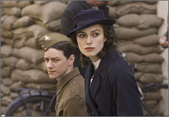 Atonement stars James McAvoy and Keira Knightley were both nominated for best actor awards.