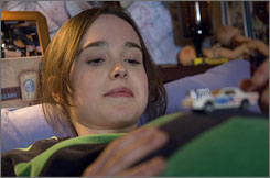 Ellen Page stars as a pregnant teenager in the comedy Juno.