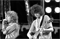 "Message of modesty: Singer Robert Plant, left, guitarist Jimmy Page and the rest of Led Zeppelin use the lyrics  of Stairway to Heaven  to tell listeners that ""all the money in the world won't buy us a soul,"" Felicia Pride says."