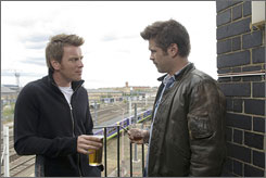 Blood brothers: Ewan McGregor, left, and Colin Farrell are manipulated into helping their uncle rid himself of a bothersome business associate.