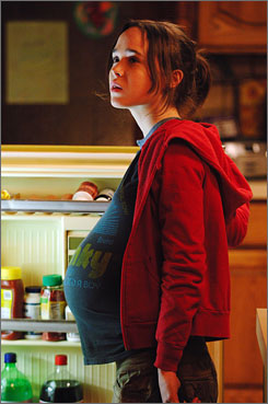 Belly laughs: Juno (with Ellen Page above), Knocked Up and Waitress all find their main characters with unplanned pregnancies.