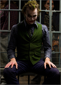 Heath Ledger, seen here as the Joker in The Dark Knight, had just finished filming the role.