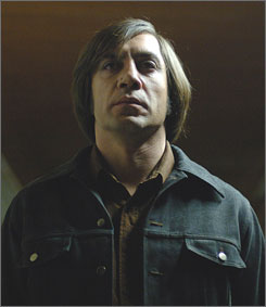 No Country for Old Men scored a best-picure nomination as well as a supporting actor berth for Javier Bardem, as well as directing and screenwriting entries for the Coen brothers.