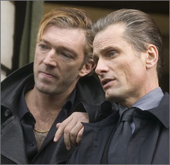 You can catch Viggo Mortensen's Oscar-nominated work (right, with Vincent Cassel) in Eastern Promises in the comfort of your own home  which may make that gruesome sauna scene easier to watch.