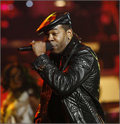 Busta Rhymes was sentenced to three years' probation and 10 days of community service for assault.