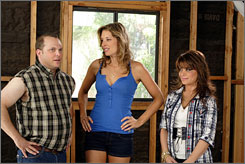 Hammer time: Adam Paul, Lindsey Stoddart and Paula Abdul get into fixes on Hollywood Residential. Another original series, unscripted Head Case, also premieres Wednesday night.