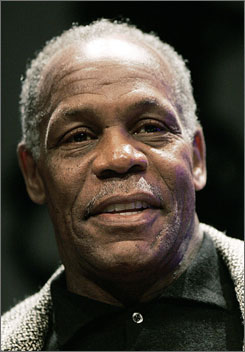 Danny Glover trespassed in a hotel during a hotel workers union rally in 2006.