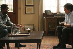 Tuesday's patient: Blair Underwood plays a Navy pilot who seeks therapy from Paul (Gabriel Byrne) after he accidentally bombs an Iraqi school.
