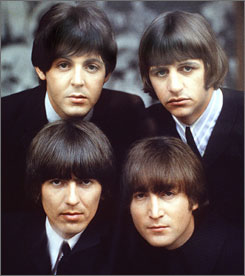 Surviving Beatles Paul McCartney, top left, and Ringo Starr, top right, shown in 1965, have been invited to play in Israel. George Harrison, lower left, died in 2001, and John Lennon died in 1980.