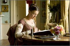 Williams: Portrays author Jane Austen.