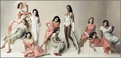 The spread: Ten young actresses wore exclusive designs from Dior by John Galliano for the shoot.