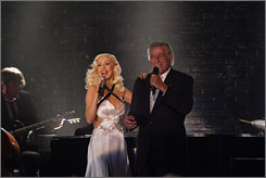Complementary: Christina Aguilera and Tony Bennett perform on NBC's special Tony Bennett: An American Classic. They're nominated for Steppin' Out.
