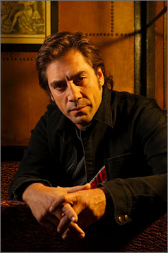"Two sides: Javier Bardem has an intensity that served him well in No Country for Old Men. But the actor, who is nominated  for best supporting actor, says he doesn't like violent roles, and friends describe him as lighthearted and ""a lovely ball of fun."""