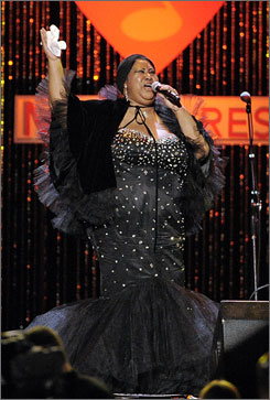Aretha Franklin was celebrated as the MusiCares Person of the Year at a pre-Grammys bash in Los Angeles Saturday.