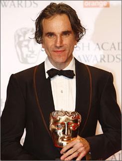 Daniel Day-Lewis won the lead actor award for his work in There Will Be Blood.