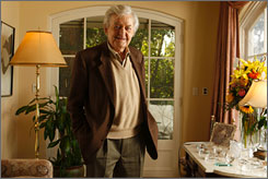 First-timer: Hal Holbrook, 82, has been nominated for best supporting actor for Into the Wild.
