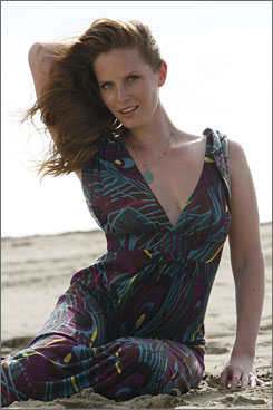 Welcome to the island: Rebecca Mader is a new member of the cast of Lost. You may have seen her in The Devil Wears Prada.
