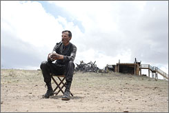 "Good prospects: There Will Be Blood's  Daniel Day-Lewis says that in Marfa,  ""there's not too much to take you  out of character."""