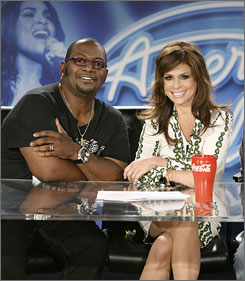 Two at the top: American Idol's  Randy Jackson and Paula Abdul.