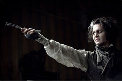 Sweeney Todd: Johnny Depp stars as a wronged man whose sorrow turns into blood lust and vengeance.