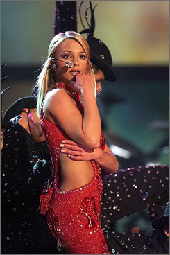 Before the breakdown: In her musical heyday, Britney Spears performs at the 2000 Grammy Awards in Los Angeles.