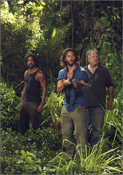A flash in time: Henry Ian Cusick, center,  with Naveen Andrews and Sam Anderson.