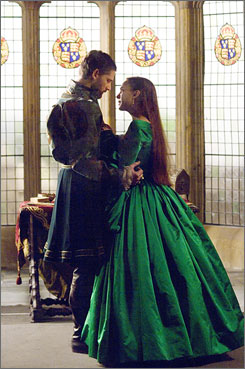 Royal plan: Anne Boleyn (Natalie Portman) tries to get into King Henry's (Eric Bana's) good graces  and eventually, his family  to boost her own family's social standing.