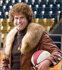 Fair to dribbling: Will Ferrell in Semi-Pro, which took in $15.3 million at the box office.