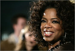"""A wake-up call"": Oprah Winfrey made Eckhart Tolle's A New Earth the first self-help book to be chosen for her Oprah's Book Club."