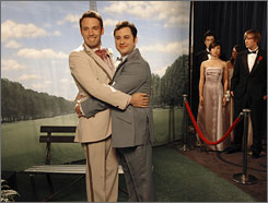 Embraced on YouTube: Jimmy Kimmel, right, had an online hit on his hands with a spoof about an affair with Ben Affleck.
