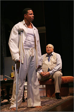 First stage work: Terrence Howard, with James Earl Jones, had never acted in a play prior to the current all-black revival of Hot Tin Roof.