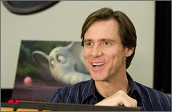 "The dreamer: Jim Carrey voices Horton, the elephant who tries to show his fellow jungle dwellers that there's a whole world  living on a speck. ""There's a lot of humanity and compassion around him,"" Carrey says. ""He has love for his surroundings."""