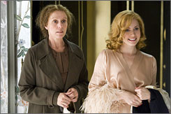 Lots of laughs: Frances McDormand is Miss Pettigrew and Amy Adams plays starlet Delysia Lafosse.