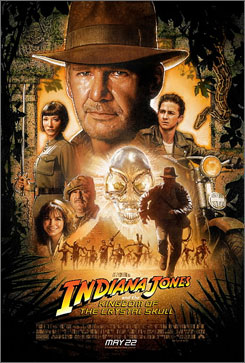 Harrison Ford reprises his role as a treasure hunter in Indiana Jones and the Kingdom of the Crystal Skull.