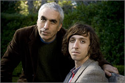 Father and son:  Authors David, left,  and Nic Sheff.