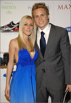 Heidi Montag and Spencer Pratt are responsible for much of the drama on MTV reality show The Hills.