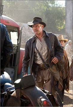 Back in business: Harrison Ford reprises his role as Indiana Jones in this summer's Kingdom of the Crystal Skull.
