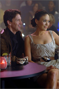 One in a billionaire: Joe (Andrew McCarthy) is dating designer Victory (Lindsay Price) in Lipstick Jungle.