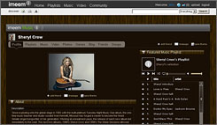 Sheryl Crow is getting in on the action on Imeem.com