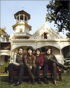 Another fab four: Jon Walker, left, Ryan Ross, Brendon Urie and Spencer Smith.
