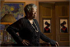 Birthday portrait: Maya Angelou, at home in Harlem, is the subject of A Glorious Celebration. It arrives Tuesday to mark her 80th birthday April 4.