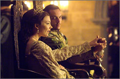 He makes the rules: Henry VIII (Jonathan Rhys Meyers) leaves his wife to marry Anne Boleyn (Natalie Dormer), despite the church's disapproval.
